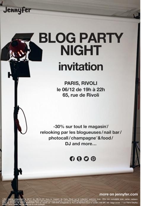 blog party paris jennyfer invitation