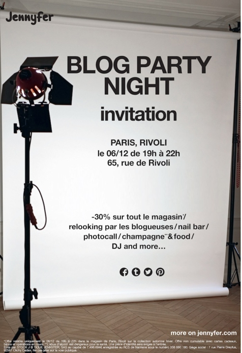 blog party paris jennyfer invitation