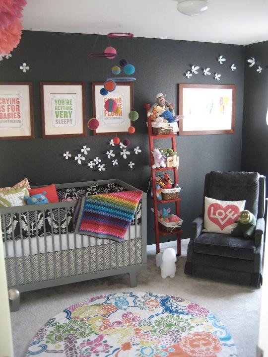 la chambre de meava rosalind pour ses couleurs et ses astuces - Chambre Enfant Mur Bleu Gris