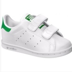 BASKET, blanche et verte à scratch, ADIDAS / STAN SMITH, 45€