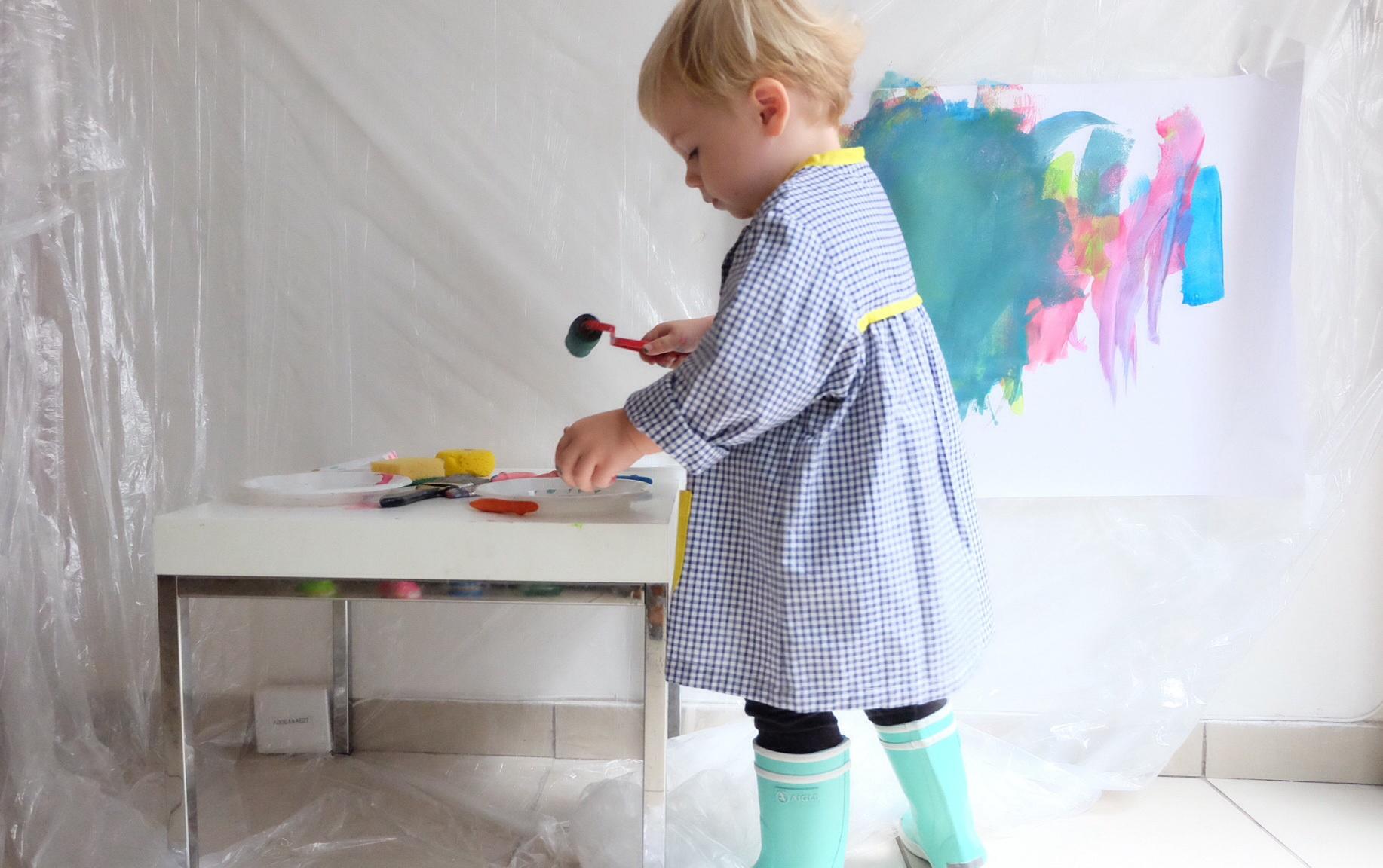 activit enfant 1 2 3 couleurs la peinture encore et encore. Black Bedroom Furniture Sets. Home Design Ideas